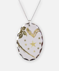 Golden heart floral stars Necklace
