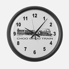CHOO CHOO TRAIN Large Wall Clock
