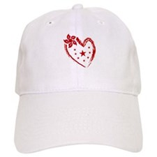 Red Heart Valentines star Baseball Cap
