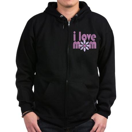 Love Mom Zip Hoodie (dark)