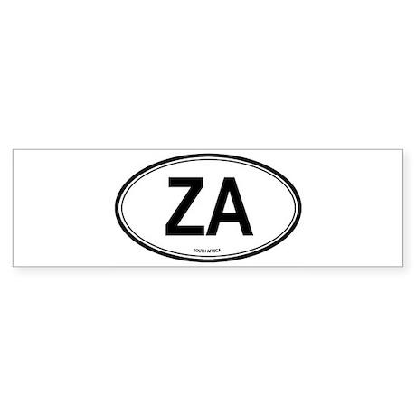 South Africa (ZA) euro Bumper Sticker