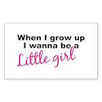 Little Girl Rectangle Sticker