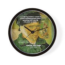 Artist Van Gogh: Suffering Wall Clock