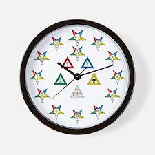 Eastern Star Officer Wall Clock