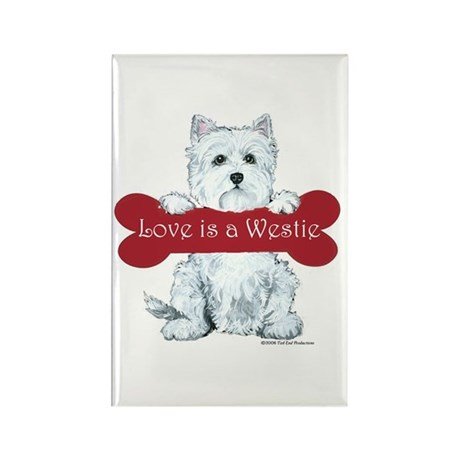 Love is a Westie Rectangle Magnet (100 pack)