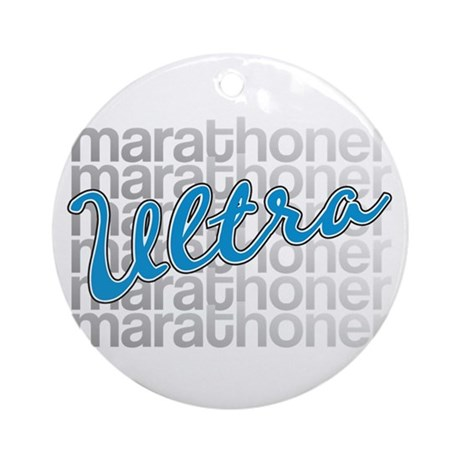 Ultra Marathoner Ornament (Round)