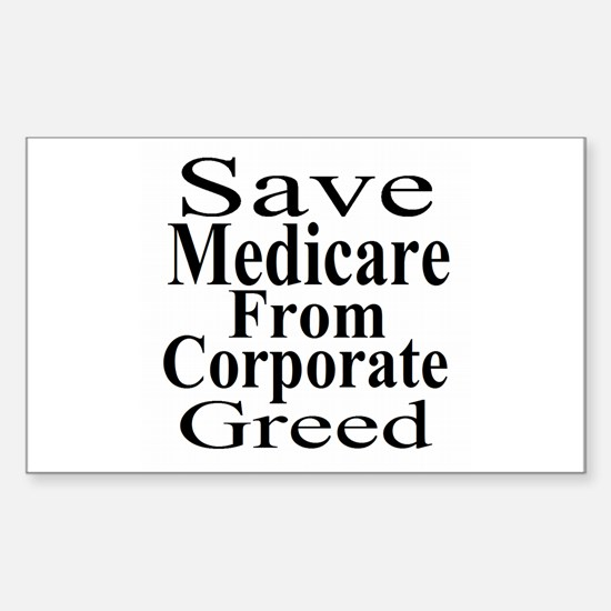 Save Medicare Sticker (Rectangle)