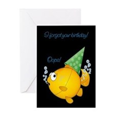 Cute Belated birthday Greeting Card