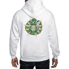 Frog on lily Hoodie Sweatshirt