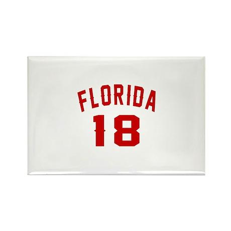 Florida 18 Birthday De Rectangle Magnet (100 pack)