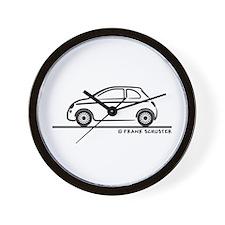 New Fiat 500 Cinquecento Wall Clock