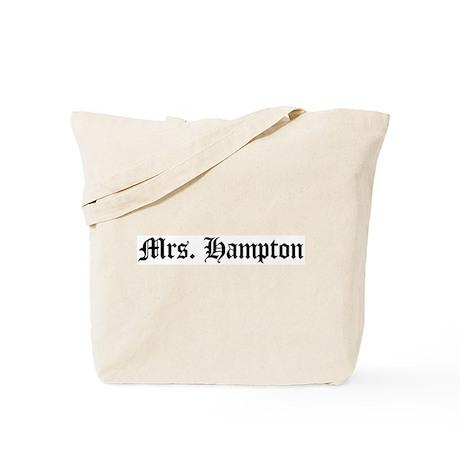Mrs. Hampton Tote Bag