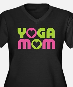 Yoga Mom Women's Plus Size V-Neck Dark T-Shirt