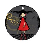 SAMURAI GIRL Ornament (Round)