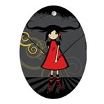 SAMURAI GIRL Ornament (Oval)