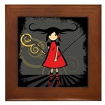 SAMURAI GIRL Framed Tile