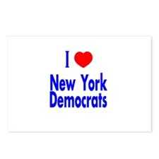 I Love New York Democrats Postcards (Package of 8)