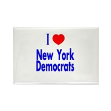 I Love New York Democrats Rectangle Magnet