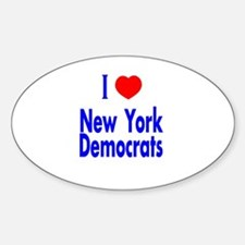 I Love New York Democrats Oval Decal