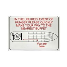 Hunger Emergency Rectangle Magnet