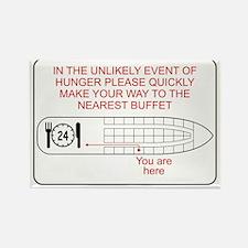Hunger Emergency Rectangle Magnet