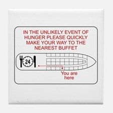 Hunger Emergency Tile Coaster