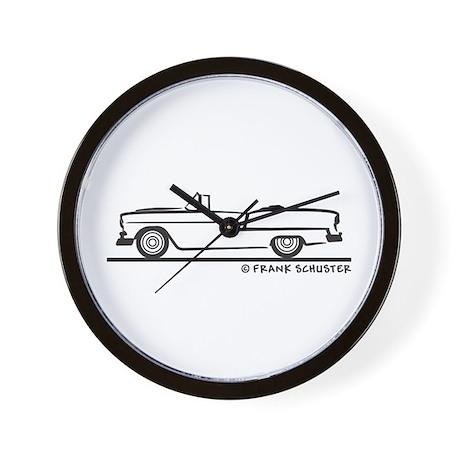 1955 Chevy Convertible Bel Air Wall Clock