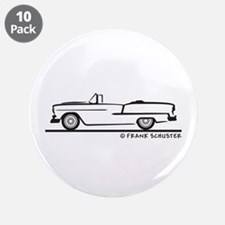 """1955 Chevy Convertible Bel Air 3.5"""" Button (10 pac"""