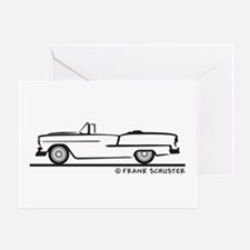 1955 Chevy Convertible Bel Air Greeting Card