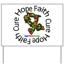 Autism Flower Hope Yard Sign