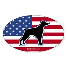 USA Brittany Oval Decal