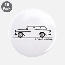 """1955 Chevrolet Nomad Bel Air 3.5"""" Button (10 pack)"""