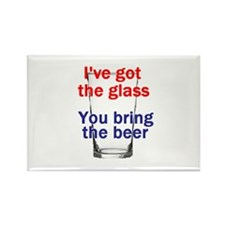 Beer Glass Rectangle Magnet
