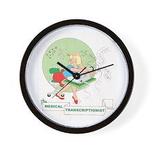 Medical Transcriber Wall Clock