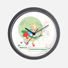 Medical Transcriber Wall Clock