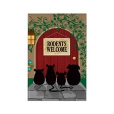 Rodents Welcome Rectangle Magnet