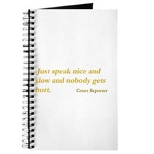 Speak nice and slow - Journal