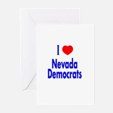 I Love/Heart Nevada Democrats Greeting Cards (Pack