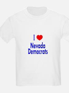 I Love/Heart Nevada Democrats Kids T-Shirt