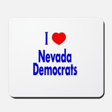 I Love/Heart Nevada Democrats Mousepad