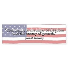 John F. Kennedy Quote Bumper Bumper Sticker
