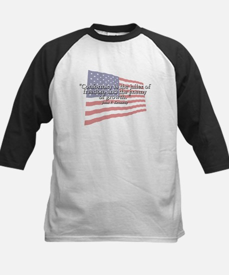 John F. Kennedy Quote Kids Baseball Jersey