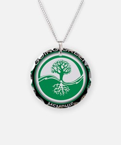 Going Green Memphis Tree Necklace Circle Charm