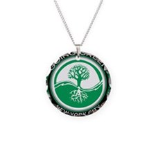 Funny Living green Necklace Circle Charm