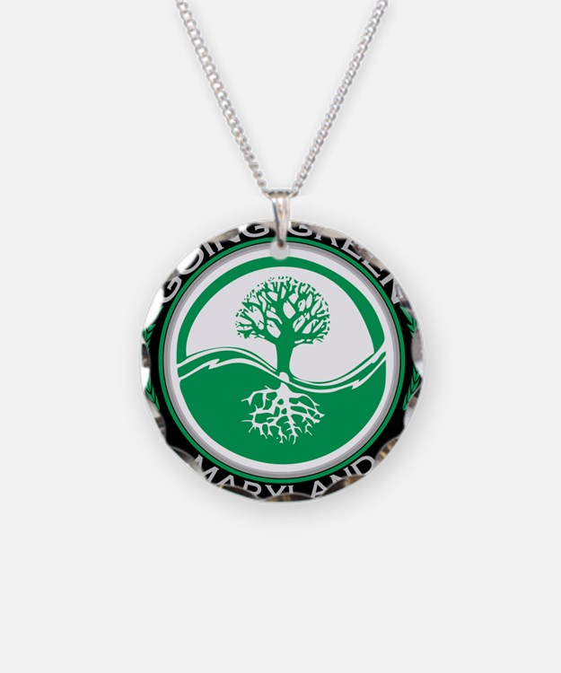 Cute Living green Necklace Circle Charm