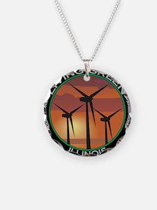 Unique Living green Necklace Circle Charm