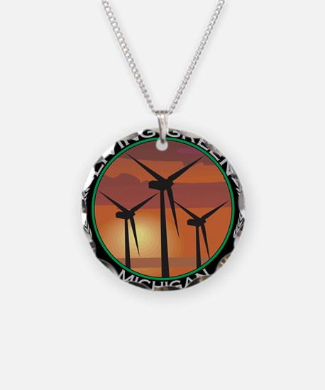 Living green Necklace Circle Charm