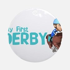 My First Derby Ornament (Round)