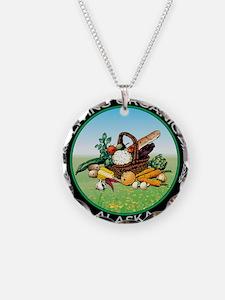 Living Organic Alaska Necklace Circle Charm