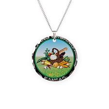 Living Organic Kansas Necklace Circle Charm